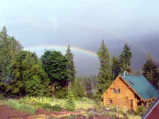 Rainbow photo captured by guest from Montana